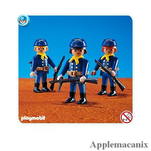 NEW/SEALED Playmobil 7047 Western Yankee 3 Union Soldiers 3057 3729 3812 3023