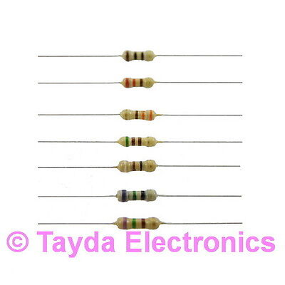 50 X 100 Ohms Ohm 14w 5 Carbon Film Resistor - Free Shipping