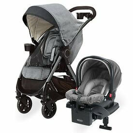 graco dlx pram carseat and base