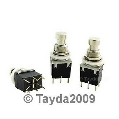 1 X 2pdt Dpdt Latching Stomp Foot Pedal Push Button Switch Pcb - Free Shipping