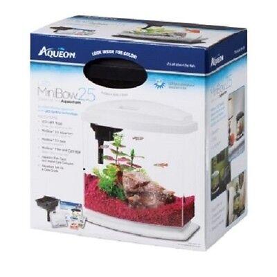 Aqueon Mini Bow 2.5 g LED Desktop Aquarium Kit Betta Complete Fish Tank Black
