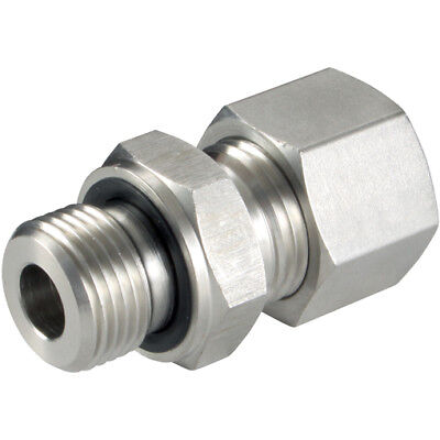 10MM OD EQUAL STRAIGHT BULKHEAD L 1 316 STAINLESS STEEL COMPRESSION FITTINGS