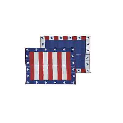 8' x 20' Patriotic Patio Mat for RV / Camper / Motorhome / Pop-Up