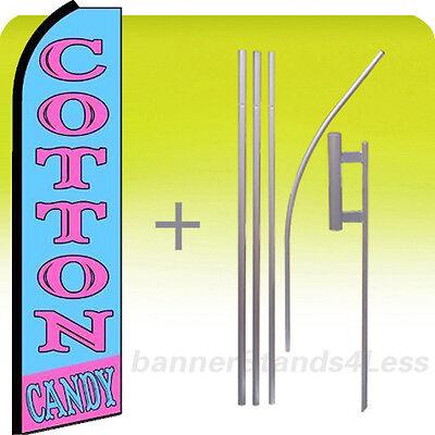 Cotton Candy - Swooper Flag Kit Feather Flutter Banner Sign 15 Set Bq
