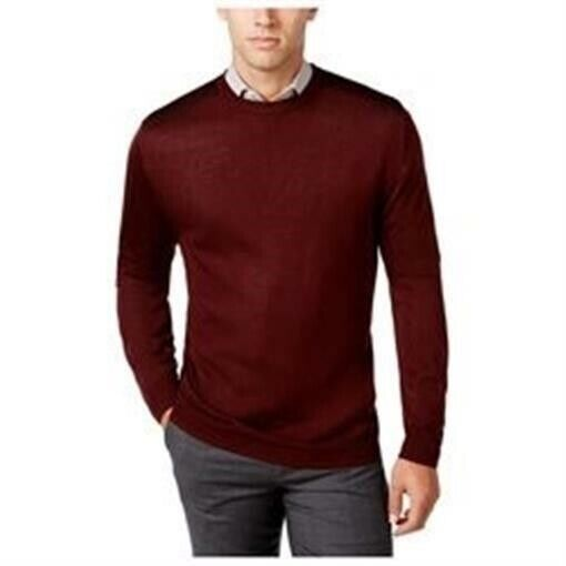 Ryan Seacrest Distinction Mens Plaid Crew Pullover Sweater