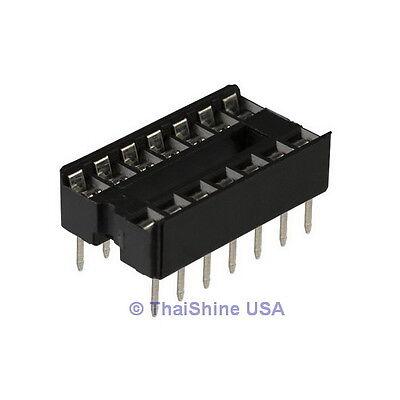 50 x 14 pin DIP IC Sockets Adaptor Solder Type Socket - USA Seller - Free Ship