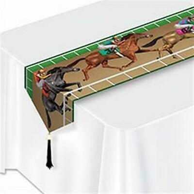 Printed Horse Racing Paper Table Runner Horse Birthday Party Decorations - Racing Party Decorations