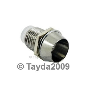 10-x-5mm-Bezel-LED-Holder-Chrome-Metal-FREE-SHIPPING