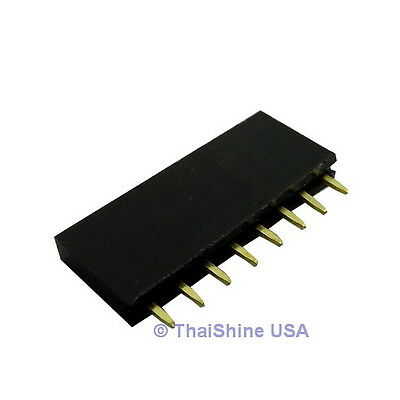 10 X 8 Pin 2.54mm Single Row Female Pin Header - Usa Seller - Free Shipping