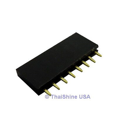 10 x 8 Pin 2.54mm Single Row Female Pin Header - USA Seller - Free Shipping