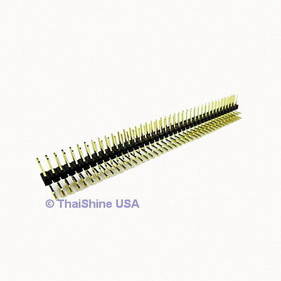 3 x 2x40 Pin 2.54 mm Right Angle Double Row Pin Header USA SELLER FREE SHIPPING