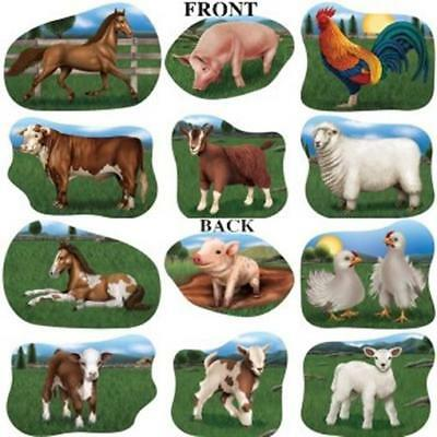 Farm Animal Paper Cutouts #2 6 Pack Farm Barn Yard Birthday Party