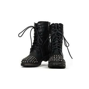 Women's black studded bots Size 5 Excellent condition London Ontario image 1