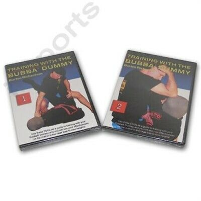 Burton Richardson Bubba Dummy Grappling Brazilian Jiu Jitsu Training 2 DVD Set