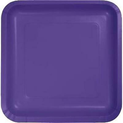 Purple Square Paper Plates 9-inch 18 Per Pack - Purple Paper Plates