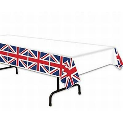 Union Jack Tablecloth (British Union Jack Plastic Banquet Tablecloth International Party)