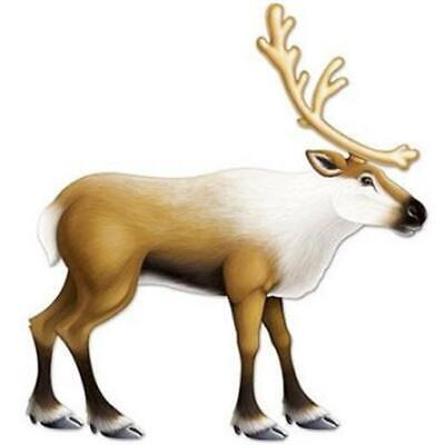 Jointed Reindeer Wall Prop Winter Christmas Decoration](Reindeer Props)