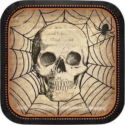 Spooky Symbols 7 Inch Paper Plates 8 Pack Halloween Party Decorations - 7 Inch Paper Plates