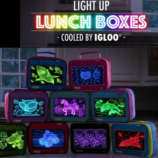 Igloo Light-Up Lunch Box Cooler: Cupcake Monster Truck Astronaut Dolphin Unicorn