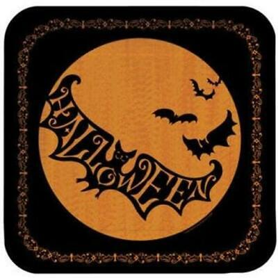 Scary Halloween Silhouettes (Halloween Scary Silhouettes 9-inch Square Paper Plates (8)