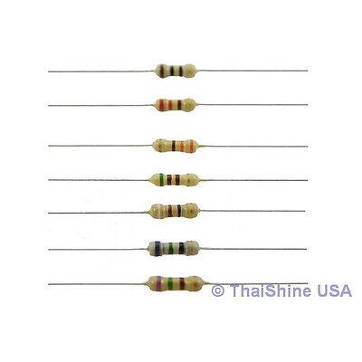 100 X Resistors 1 Ohm 14w 5 Carbon Film - Usa Seller - Free Shipping