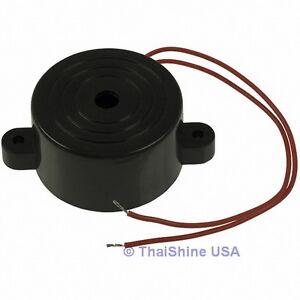 2 x Piezo Electronic Tone Buzzer Alarm 3-24V 12VDC Mounting Holes USA Seller