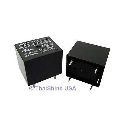 3 X Mini Relay Spdt 5 Pins 24vdc 10a 120v Contact - Usa Seller - Free Shipping