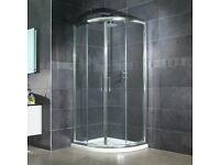 Aquafloe™ 6mm 900 x 900 Sliding Door Quadrant Enclosure