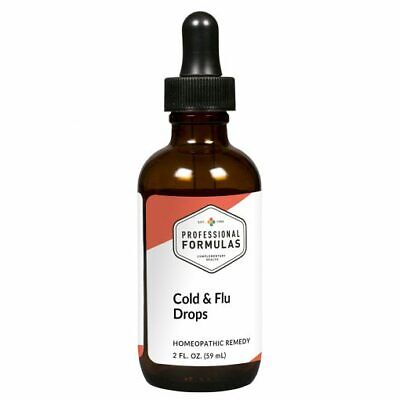 COLD & FLU DROPS PROFESSIONAL FORMULAS SUPPLEMENTS HOMEOPATHIC IMMUNE SYSTEM