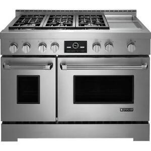 Cuisinière au gaz 48'' avec plaque chauffante, acier inoxydable, Jenn-Air
