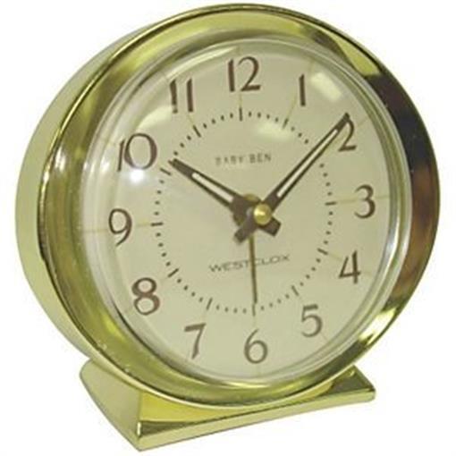 Westclox 997270 11605A Keywound Gold Tone Alarm Clock