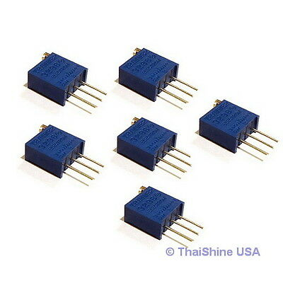 5 X 2k Ohm Trimpot Trimmer Potentiometer 3296w 3296 - Usa Seller - Free Shipping