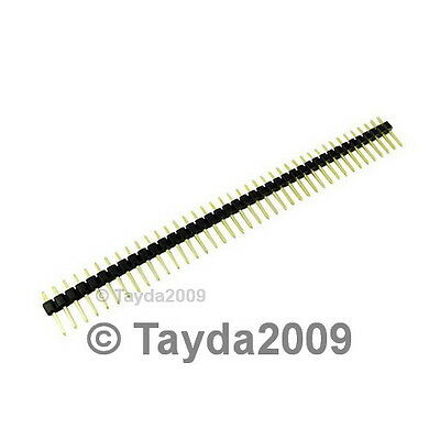 3 Pcs 40 Pin 2.54 Mm Single Row Pin Header Strip