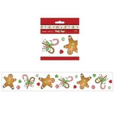 Gingerbread Man All-Weather Party Tape Christmas Winter - Gingerbread Decorations