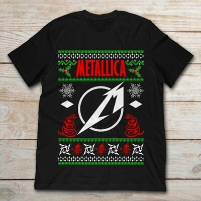 Metallica Ugly Christmas Sweater Black T Shirt. Best Christmas Gift For Friends. ()