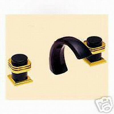 ANDRE COLLECTION ROMAN TUB DECK SET Gold & BLK NICKEL CUS-2VLV BN/PG