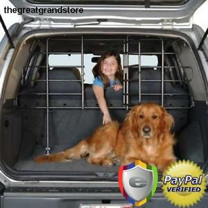 auto pet barrier gate fence dog safety suv metal baby cargo travel doors vehicle ebay. Black Bedroom Furniture Sets. Home Design Ideas
