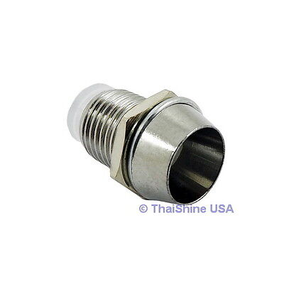 20 x 5mm Bezel LED Holder Chrome Metal - USA Seller - Free Shipping