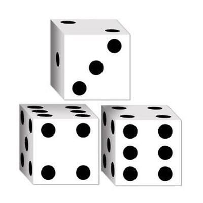 Dice Favor Boxes 3 Pack Vegas Gambling Party - Dice Favor Boxes