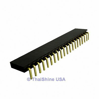 10 pcs 20 Pin 2.54 mm Single Row Ringht Angle Female Pin Header USA Seller