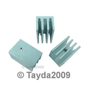 2-x-Heatsink-Heat-Sink-TO-220-4-Fins-Aluminum-Free-Shipping