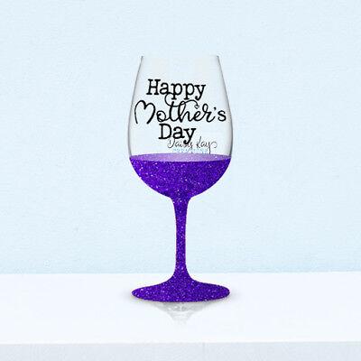 Wine Glass Decals (V163) DIY Glittered Glass - Mothers Day (V Day Dekorationen)