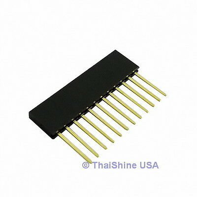 10 x Stackable Header 12 Pins 2.54mm - USA Seller - Free Shipping