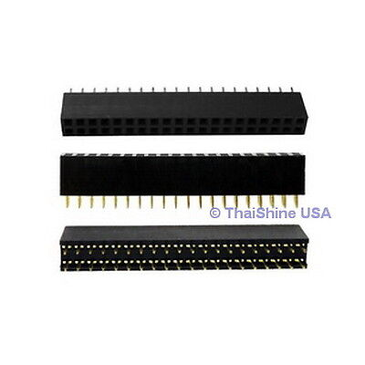 5 Pcs 2x20 Pin 2.54 Mm Double Row Female Pin Header