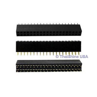 5 pcs 2x20 Pin 2.54 mm Double Row Female Pin Header