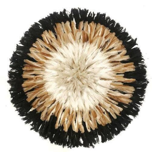 """Authentic 30"""" African JuJu Hat with XL Feathers from Cameroon for Wall Hanging"""