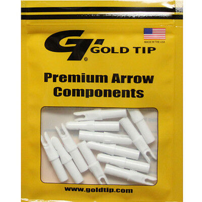 Gold Tip 12pk .246 GT Series Nock White Archery Arrow #23453 Replacements Gold Tip Gt Nocks