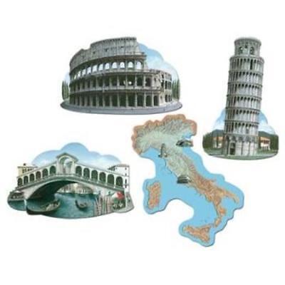 Italian Cutouts 4 Pack Wall Decor International Italian Party Decoration - Italian Party Decor
