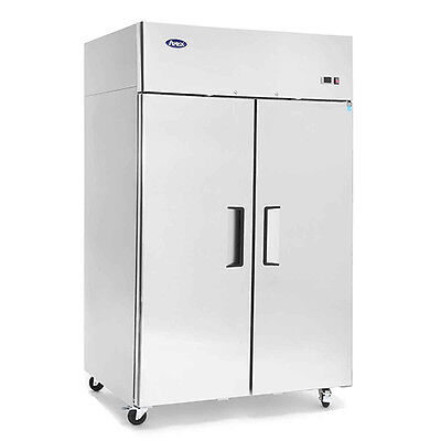 Atosa 2 Door Commercial Reach In Refrigerator Cooler 2 Year Warranty Free Liftgt