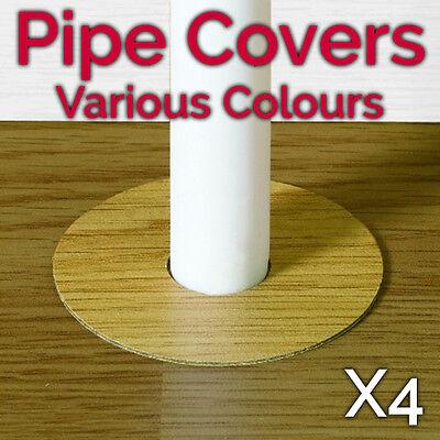 (Self Adhesive Pipe Covers Radiator Rings For Laminate Floors MAHOGANY - FC10)